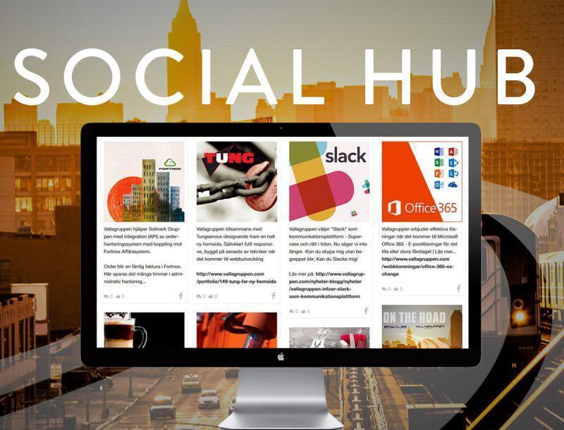 Social Hub - Strömma flera sociala medier på er hemsida