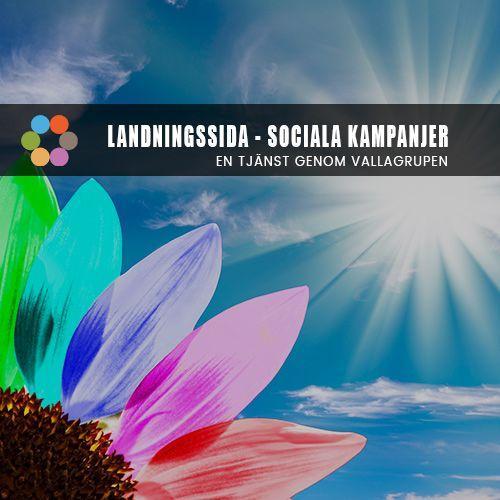 Landningssida med Social kampanj - Vallagruppen Social ADS