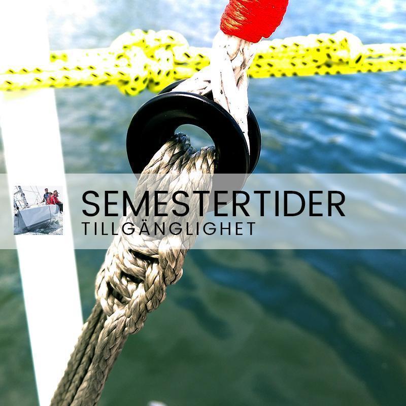 Semestertider - Mindre tillgänglighet